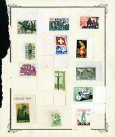 Switzerland 13 Army Stamp Collection