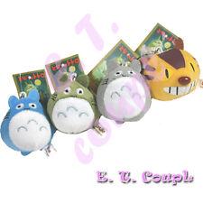 4PC Totoro Ghibli characters plush doll phone keychain