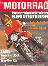 Motorrad 2 74 Starflite Yamaha RD 350 Progreß Planeta 3 1974 Zweitakt Japan Asia
