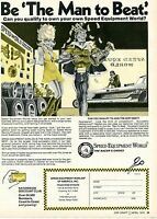 1974 Speed Equipment World Be The Man To Beat The Racers Choice Print Ad