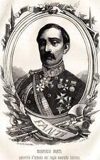 MANFREDO FANTI: Generale d'Armata Regio Esercit.PASSEPARTOUT.CERTIFICATOo. 1862
