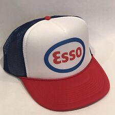 Esso Gas Estación Gorros Estilo Vintage Oil Company Malla Gorra Snapback Rwb 60f2a71a729