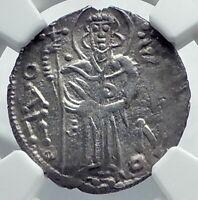 MANUEL I Trebizond Empire 1238AD Silver Asper Ancient Byzantine Coin NGC i78676