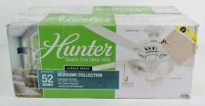 "Hunter  52"" Newsome Indoor Fresh White Ceiling Fan w/ Three Light Kit - 53316"