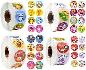 Reward Stickers Labels Animals Kids Children Teachers School Nursery Praise 25mm