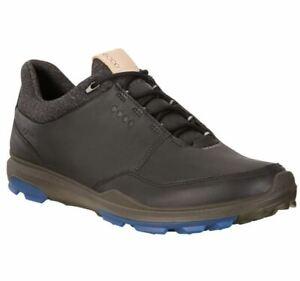 ECCO Biom Hybrid 3 Spikeless Men's Golf Shoes Size 43 Black/Blue NIB #72350