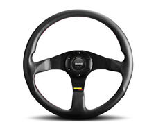 MOMO Steering Wheel Tuner Black Leather Red Stitching 350mm Genuine Brand New