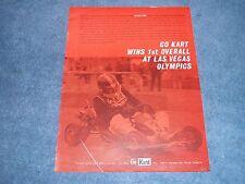 """1962 Go-Kart 1200 Vintage Ad """"Go Kart Wins 1st Overall at Las Vegas Olympics"""""""