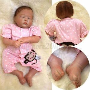 55cm Silicone Vinyl Baby Doll Clothes Girl Sleeping Birthday Xmas Toy Gift Dolls