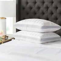 Beckham Hotel Collection Gusset Gel Pillow (2-Pack) - Diamond Embossed Luxury