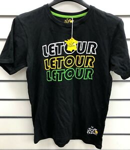"TOUR DE FRANCE ""LE TOUR"" MENS BLACK T-SHIRT. Size L."