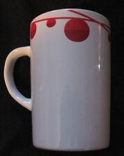 Starbucks 2012 Christmas Holiday Mug-10.8 oz-White with Red Trim EUC