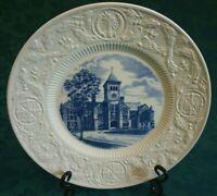 Wedgwood Washington Duke University Building Plate RARE SIGNED W. P. FEW 1937