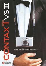 Prospekt GB Kamera Contax T VSIII Kameraprospekt 2000 brochure camera Broschüre