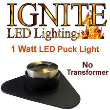 Ignite 1 Watt LED Puck Light, 20' Cord, No Transformer