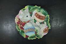 Fitz & Floyd Christmas Kitty Canape Decorative Plate 2063/143