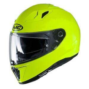 Casco Helm Casque Helmet HJC I70 I-70 SEMI FLAT FLUORESCENT 2019 taglia M
