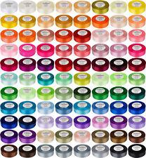 84 Farben 32m Satinband 6/12/25/mm 0,03€/m SCHLEIFENBAND Dekoband breite Band