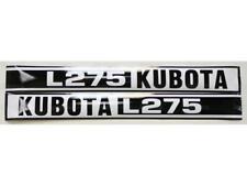 New Kubota L275 Hood Decal Set