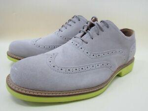 Cole Haan Great Jones Men's Gray Suede Wingtip Oxford Size 10.5 C21247