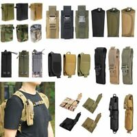 Tactical Molle Pouch Belt Waist Pack Outdoor Hiking Camp Hunting Attached Bags