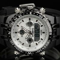 INFANTRY Mens LED Digital Analog Wrist Watch Chronograph Sport Army Pilot Rubber