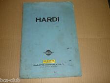 HARDI PUMPE für GÜLLEFASS TYP 500 von 1970 ERSATZTEILKATALOG ETK Hartvig Jensen