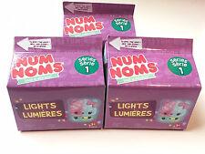 (3)  Num Noms Lights Lumieres Series one collectible figures 1 num & 1 light up
