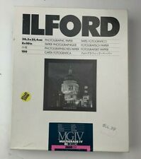 "49 Sheets Ilford Multigrade IV RC De Luxe Paper Glossy 8 x 10"" 1770340 Partial"