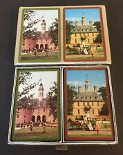 Vintage Congress Playing Cards Complete Williamsburg Capitol Governers Palace