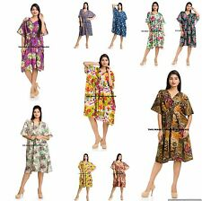 WHOLESALE LOT OF 5 PC PLUS SIZE TUNIC INDIAN KAFTAN TOP/BEACH COVER CAFTAN GOWN