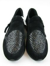 Geox Damen Slipper in schwarz glitzer Leder Gr. 37