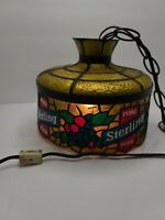 Vintage Pure Sterling Beer Hanging Lamp Tiffany Style Plastic Stained Glass Lamp