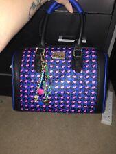 pauls boutique molly blue leopard and heart shoulder bag