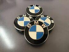 Orginal 4 X BMW blau Nabendeckel Radnaben Nabenkappen 55mm Deckel 36136850834