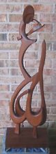 Mid Century Modern SCULPTURE Wooden Figure Signed A. CYPEN LUBITSH Dated 1961