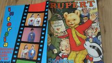 VINTAGE RUPERT KNITTING PATTERNS INTARSIA GARY KENNEDY SWEATERS JUMPERS