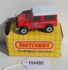 Matchbox MBX MB35 Land Rover 90 Red damaged Box FNQHotwheels FM480