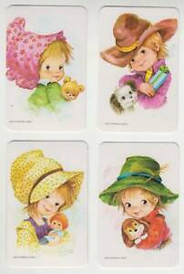 A38  Vintage swap Cards Blank Backs  greythorne  set of 4 children mint
