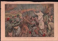Papa Pio XI Pope Pius XI Pape Pie XI Soldiers WWI Soldats 1919 ILLUSTRATION