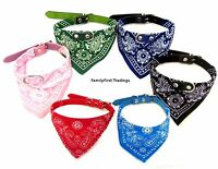 Dog Bandana Collar- Adjustable Cat Pet Neckerchief- 5 Sizes& 7 Colours Available
