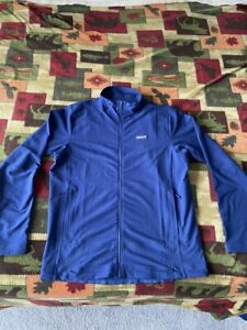 Patagonia R1 Techface Fleece Jacket -Men's Large Navy Blue