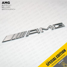 Luggage Lid AMG Nameplate Emblem 3D Trunk Logo Badge Decoration OEM - Chrome