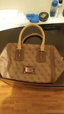 Guess handbag brown, used