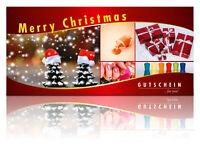 50 Gutscheinkarten Weihnachten Nagelstudio Geschenkgutschein Wellness Beauty WOW