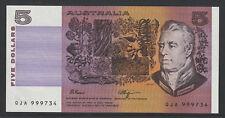 Fraser / Higgins - 1990 : General prefix Five Dollar Australian Paper Banknote