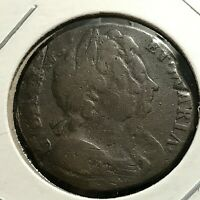 1694 GREAT BRITAIN WILLIAM & MARY FARTHING SCARCE COIN