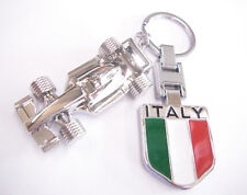 F1 Racing Car Keyring with Italy Emblem Gift Boxed
