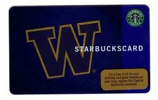 Starbucks Card 2009 UW University of Washington #6058 Rare and Limited