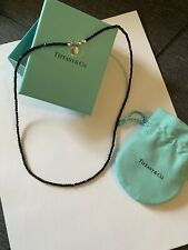 Tiffany And Co Ziegfeld Black Spinel 20in Sterling Silver Necklace New